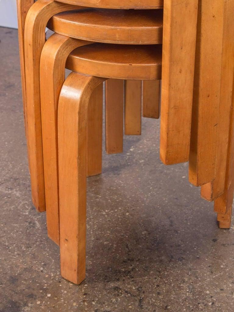Alvar Aalto Model 60 Stools for Finsven 3