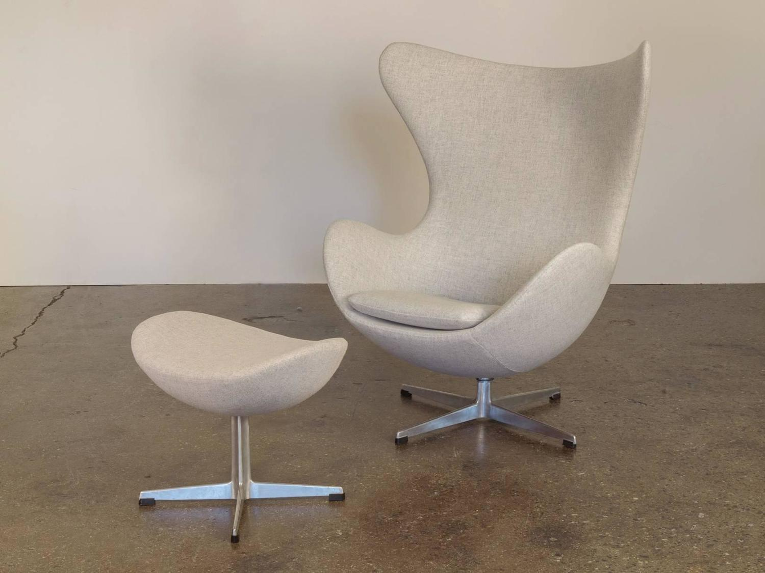 Egg Chair And Footstool By Arne Jacobsen For Sale At 1stdibs