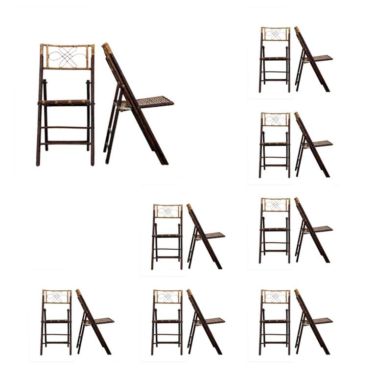 Set of Eight Bamboo Chairs