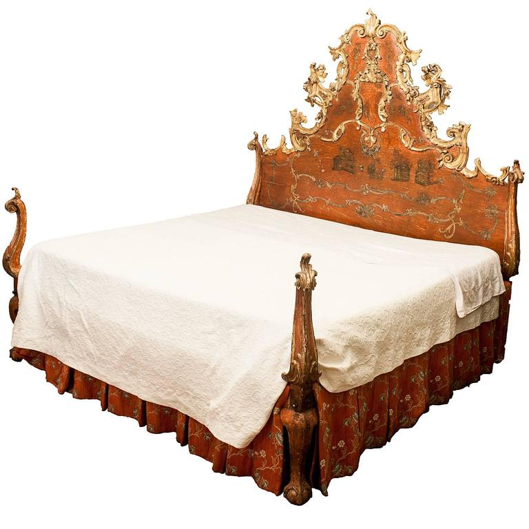 18th century spanish baroque bed at 1stdibs. Black Bedroom Furniture Sets. Home Design Ideas