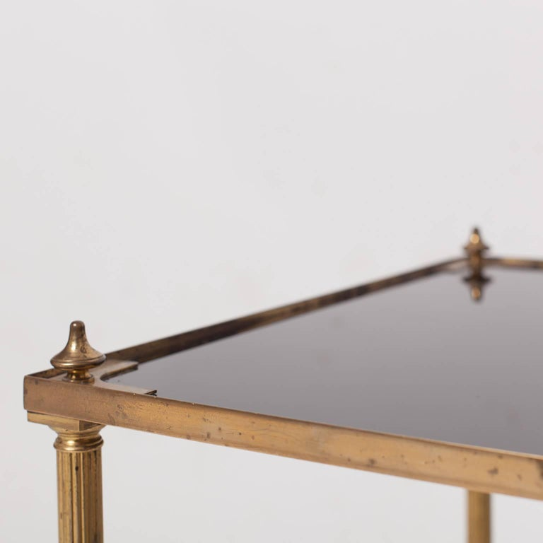 20th Century Maison Jansen Brass Coffee Table For Sale