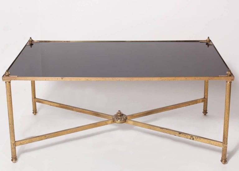 Maison Jansen Brass Coffee Table For Sale 2