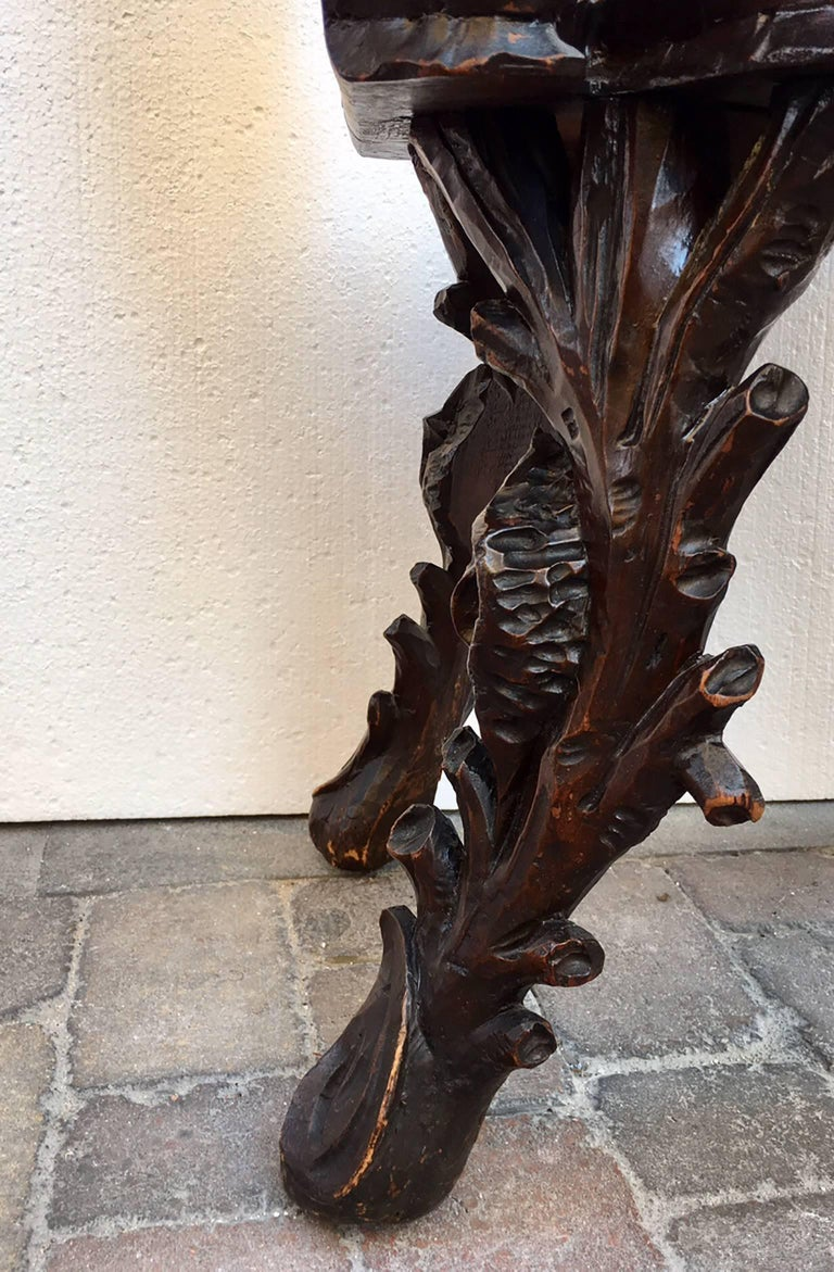 Hand-Carved Antique Venetian Grotto Armchair For Sale