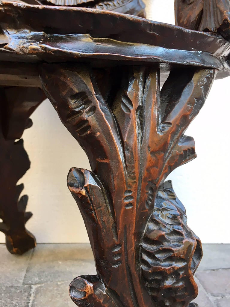 19th Century Antique Venetian Grotto Armchair For Sale