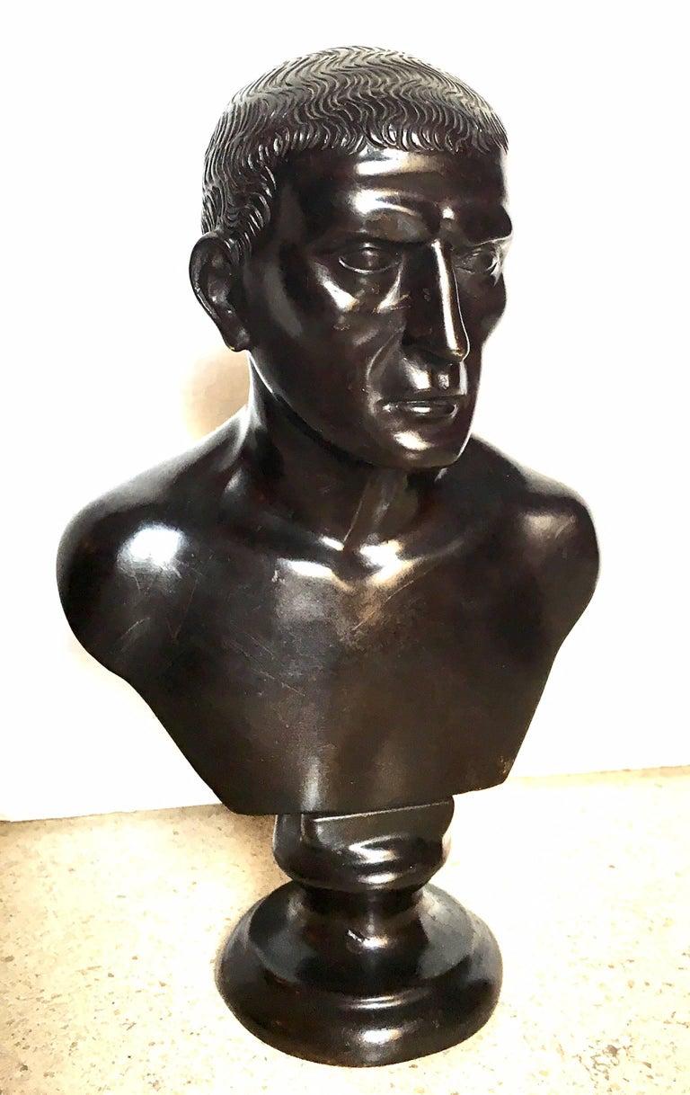 19th Century Italian Bronze Bust For Sale 1