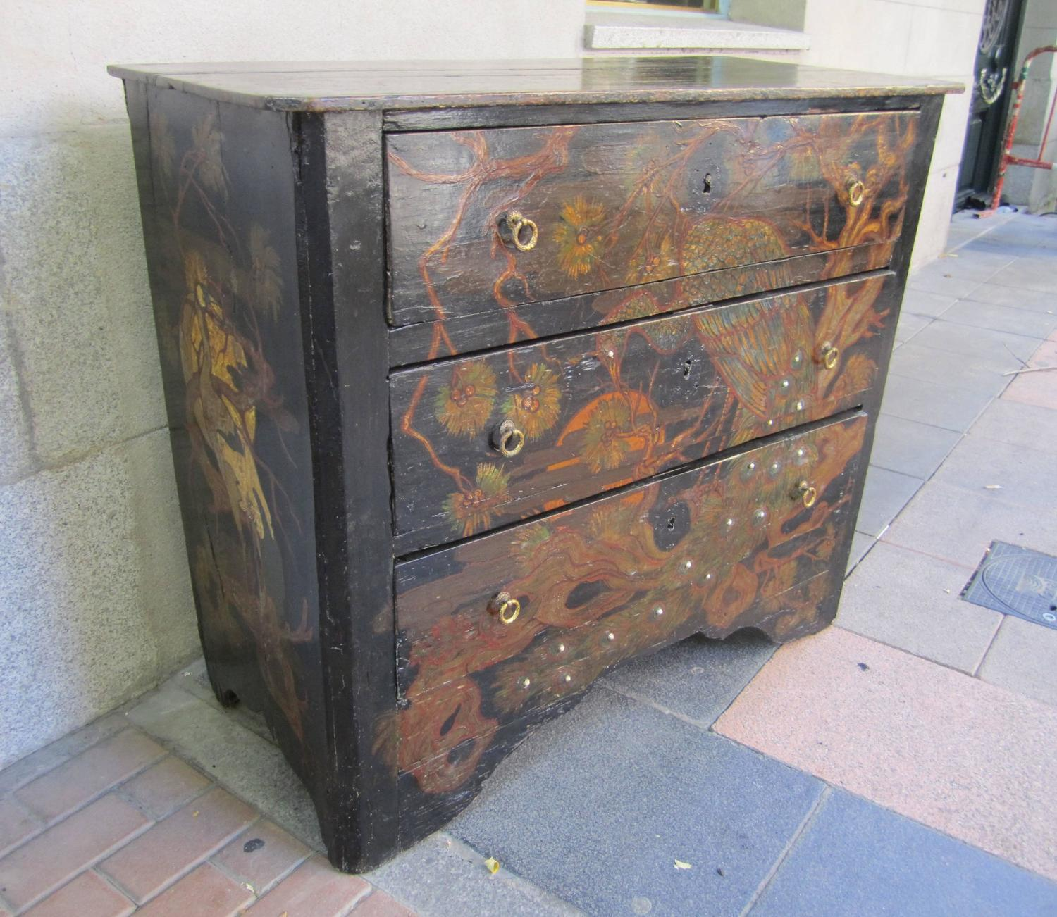 #485C83 Lacquer Wood Decorated Chest Of Drawers France 1800 For Sale At  with 1500x1302 px of Brand New Lacquered Chest Of Drawers 13021500 pic @ avoidforclosure.info