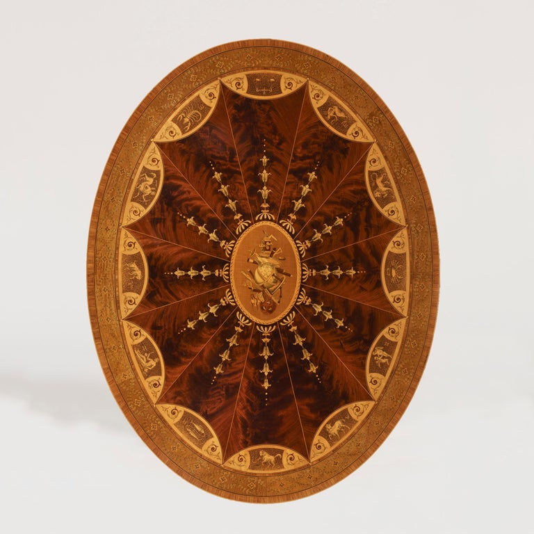 A fine quality astrological centre table