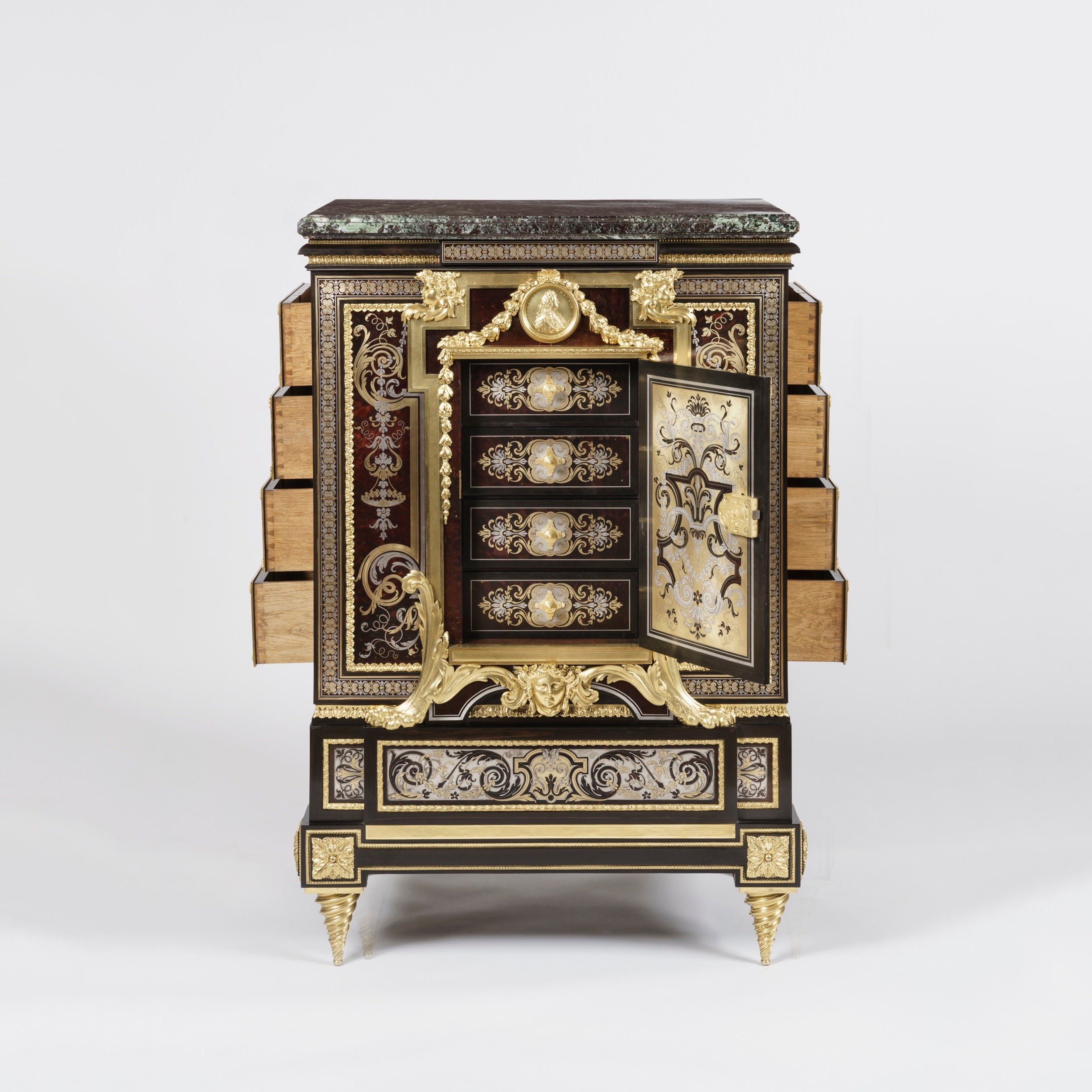Meuble Ancien Style Henri 4 rare boulle marquetry cabinet attributed to charles