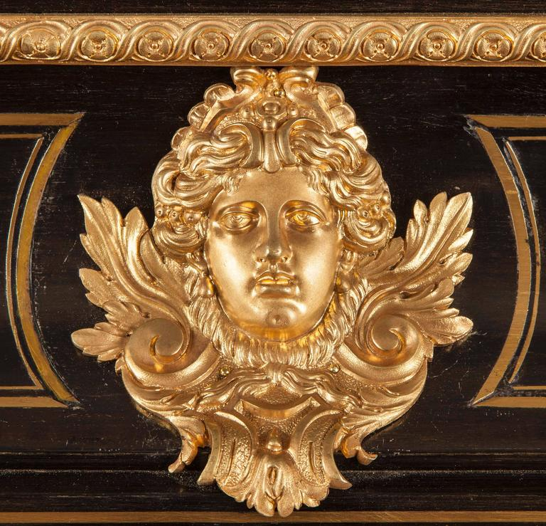 Victorian An Antique French Cabinet in the Manner of André–Charles Boulle