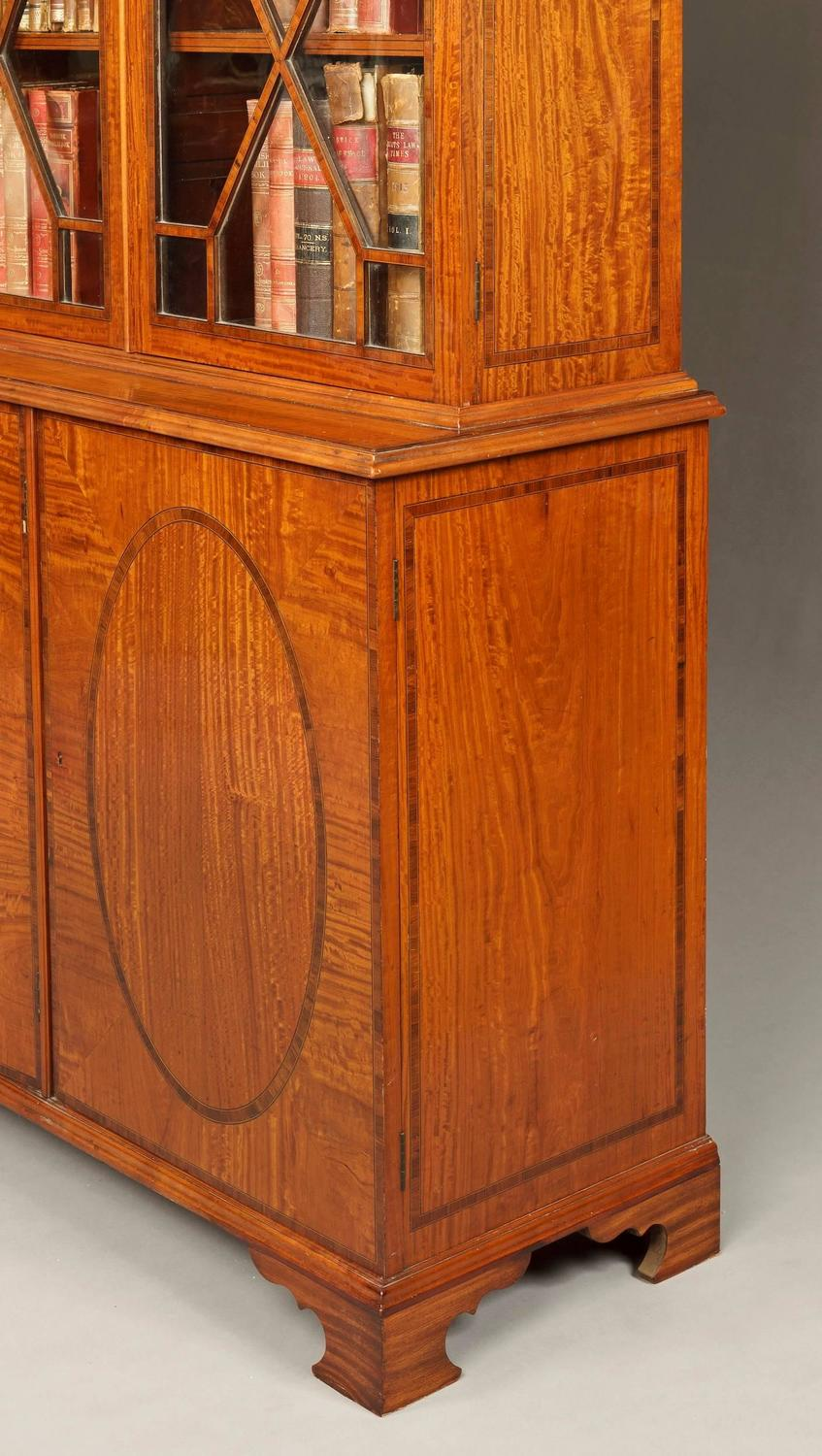 Antique english satinwood library bookcase in the for Furniture history society