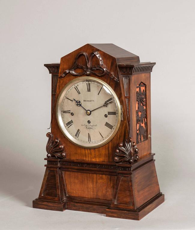 A quarter chiming bracket clock.