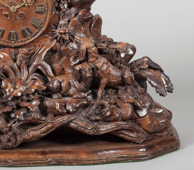 A Large Black Forest Mantle Clock