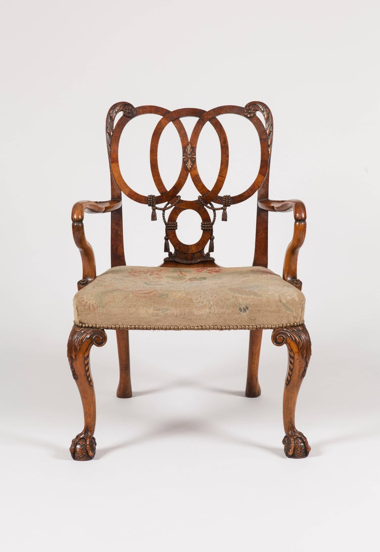 An armchair in the style of the George II
