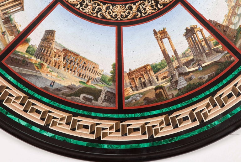 19th Century Grand Tour' Giltwood and Micromosaic Centre Table with Roman Scenes In Excellent Condition For Sale In London, GB