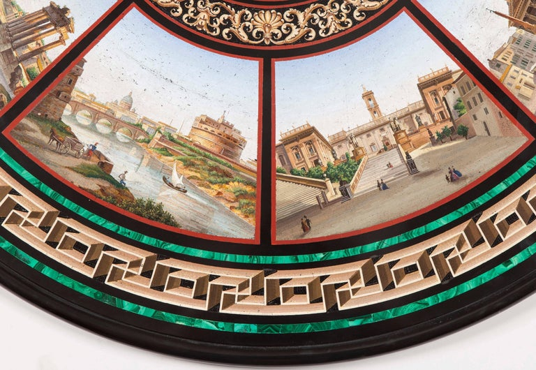 19th Century Grand Tour' Giltwood and Micromosaic Centre Table with Roman Scenes For Sale 2
