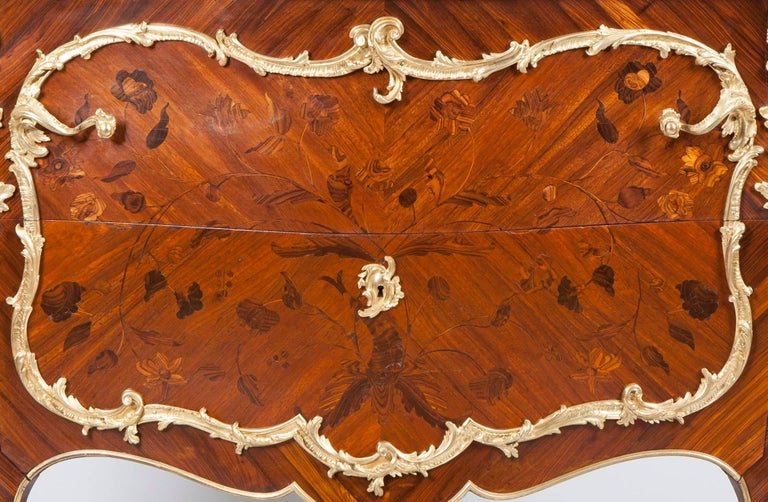 Gilt 19th Century French Commode in the Louis XV Manner by Maison Rogié For Sale