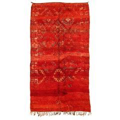 Red Ground Vintage Beni Mguild Carpet