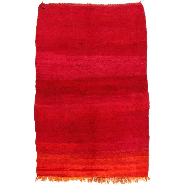 Vintage Oulmes Berber Carpet