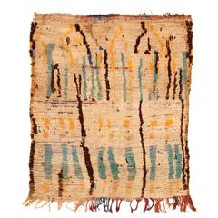 Primitive and Abstract Azilal Berber Rug
