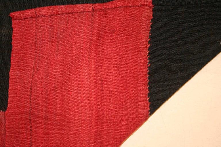 Mid-20th Century Vintage Anatolian Minimalist Kilim Rug For Sale