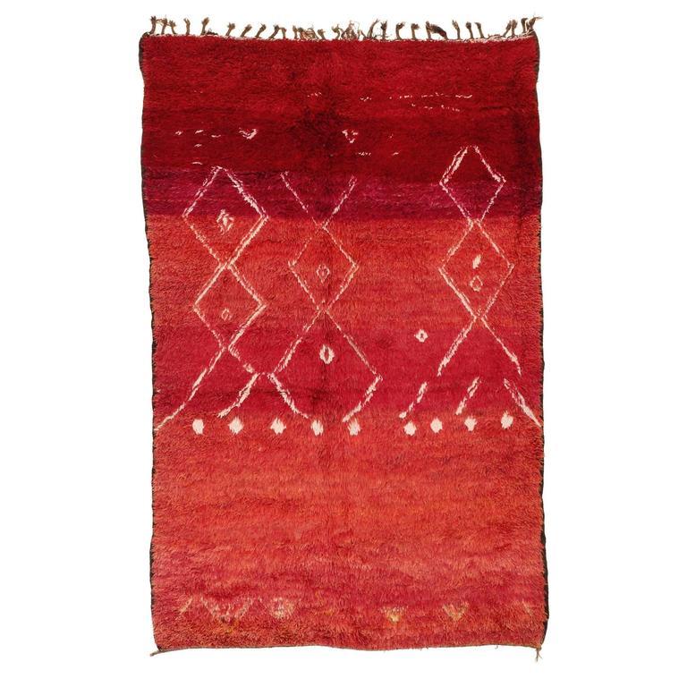 Vintage Middle Atlas Berber Rug
