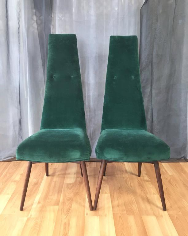 Set Of Six Adrian Pearsall Dining Chairs For Craft