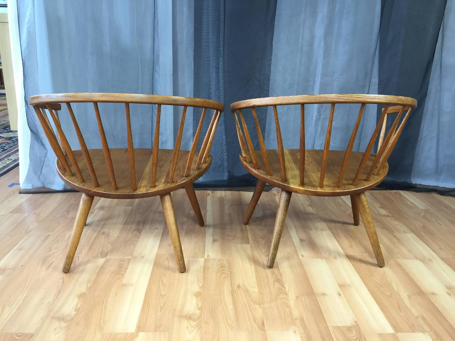 Pair of Yngve Ekström Oak u201cArka u201d Chairs for Stolab SATURDAY SALE For Sale at 1stdibs