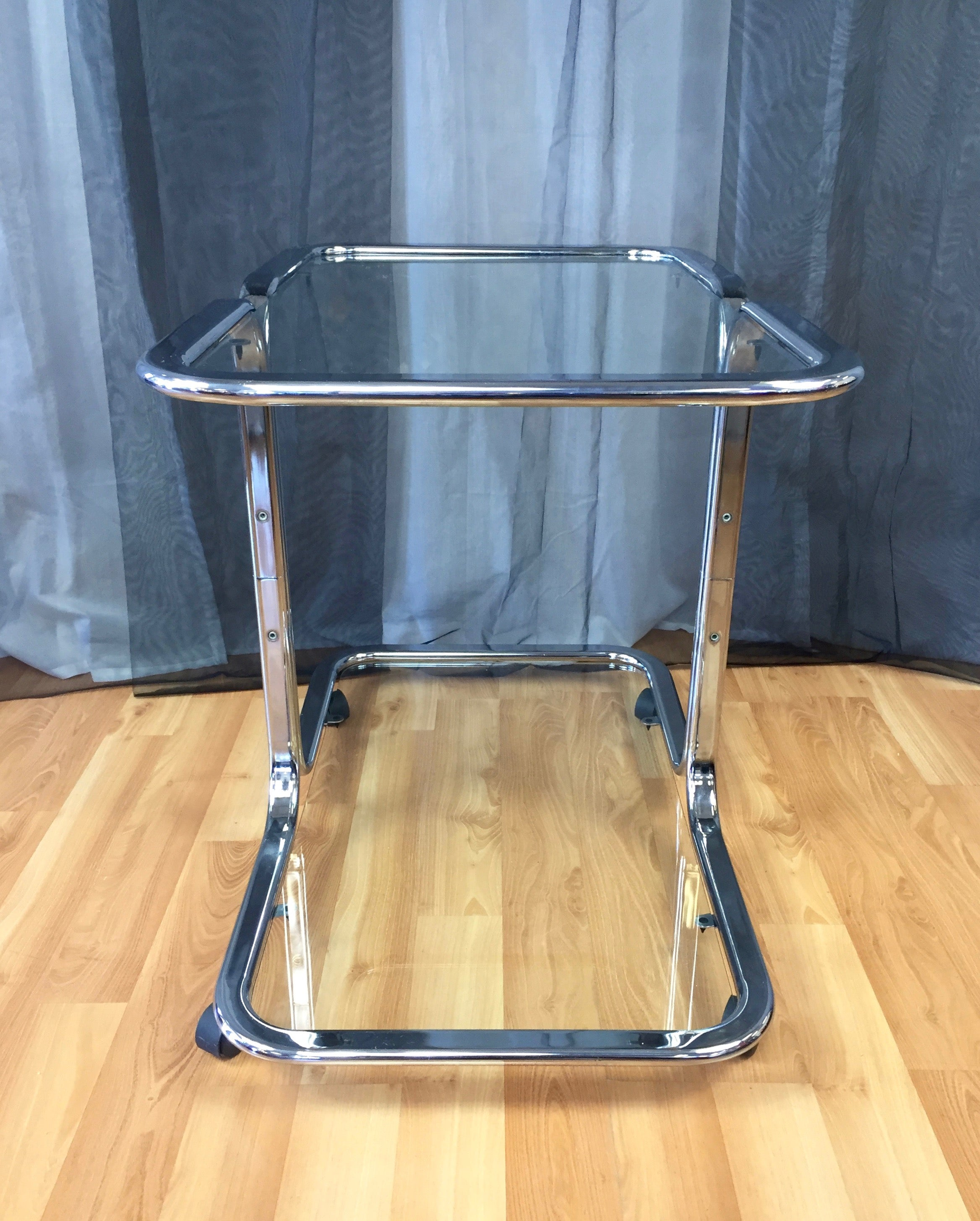 Chrome and Glass Bar Cart in the Manner of Milo Baughman For Sale at ...