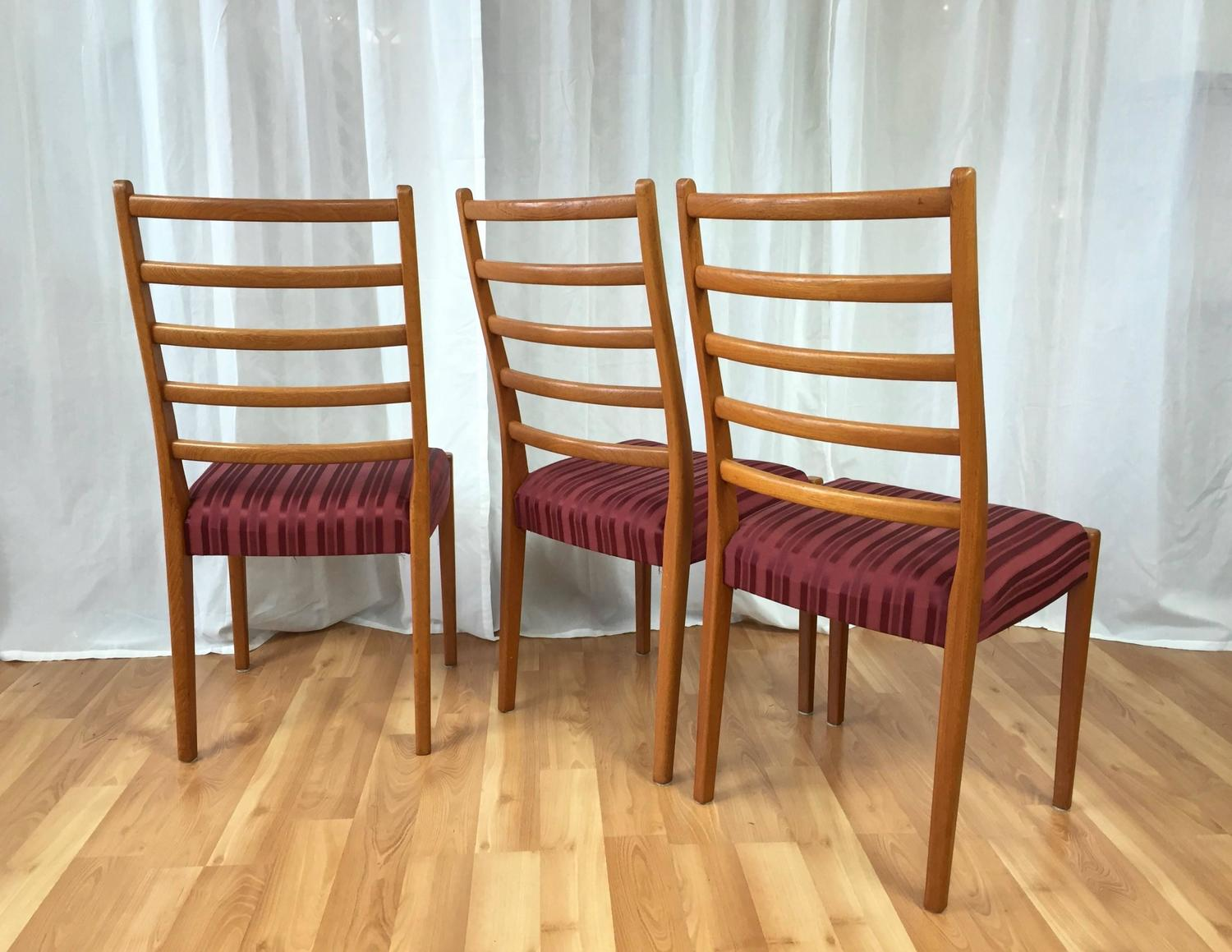 Set Of Six Svegards Markaryd High Back Teak Dining Chairs Saturday Sale For