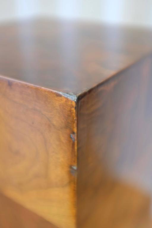 Vintage Milo Baughman-Style Architectural Walnut Pedestal For Sale 2