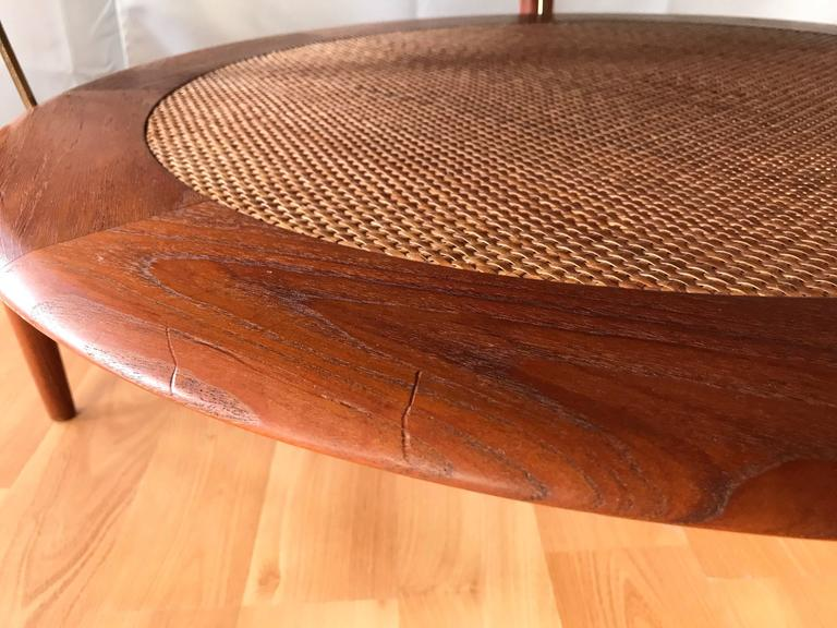 Hvidt & Mølgaard-Nielsen for France & Søn Teak and Rattan Coffee Table For Sale 2