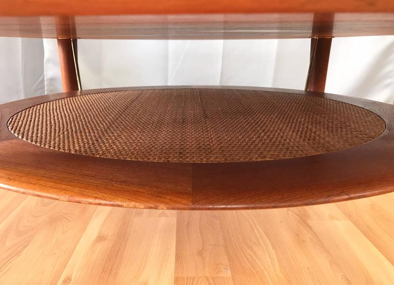 Hvidt & Mølgaard-Nielsen for France & Søn Teak and Rattan Coffee Table For Sale 1