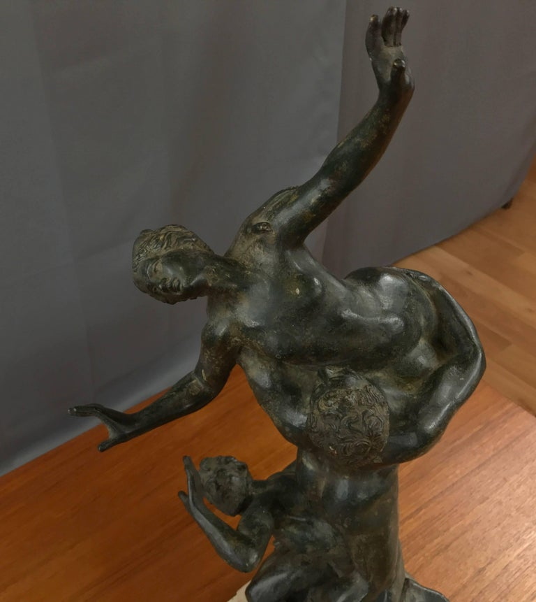 """""""Abduction of the Sabine Women"""" Metal Sculpture after Giambologna In Good Condition For Sale In San Francisco, CA"""