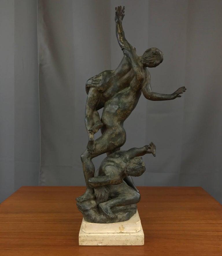 "Renaissance ""Abduction of the Sabine Women"" Metal Sculpture after Giambologna For Sale"