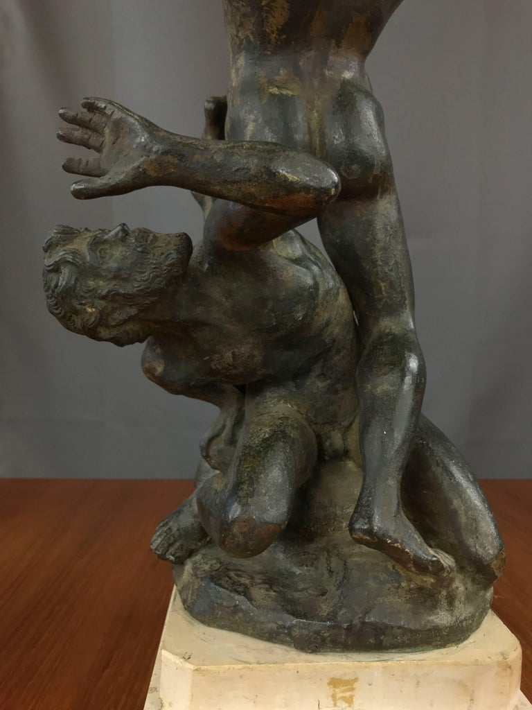 """""""Abduction of the Sabine Women"""" Metal Sculpture after Giambologna For Sale 1"""
