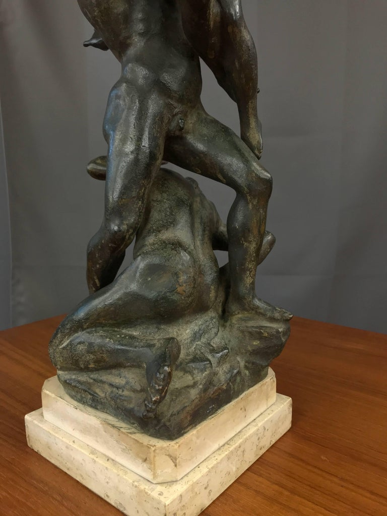 """Bronze """"Abduction of the Sabine Women"""" Metal Sculpture after Giambologna For Sale"""