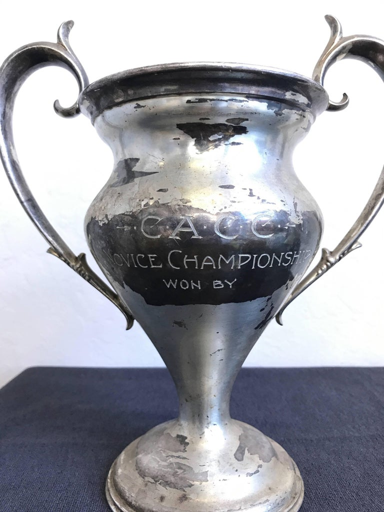 Group of Six Early 1900s California Bay Area Silverplate Cycling Trophies For Sale 6