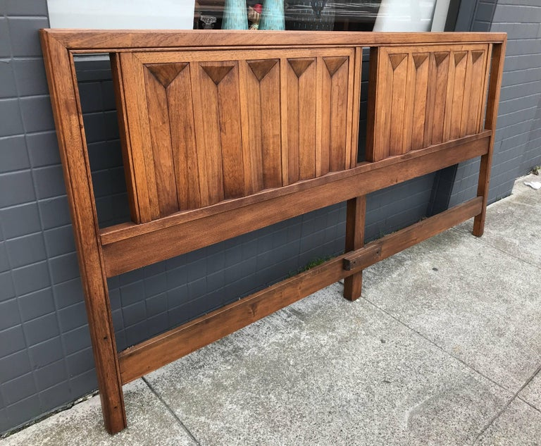 American of martinsville spanish revival walnut king for Bedroom furniture 94109