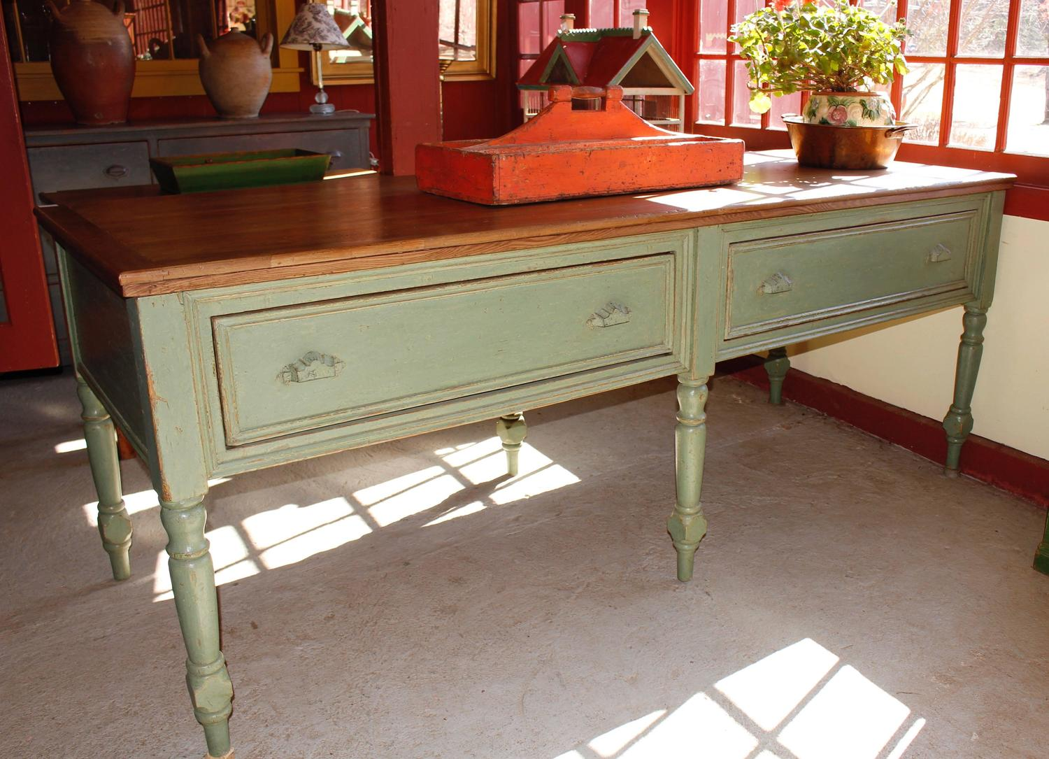 Kitchen work counter four large drawers for sale at 1stdibs for Kitchen drawers for sale