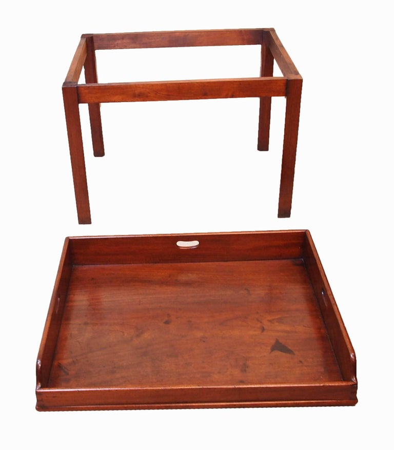 A good quality late 18th century mahogany butlers tray of excellent color