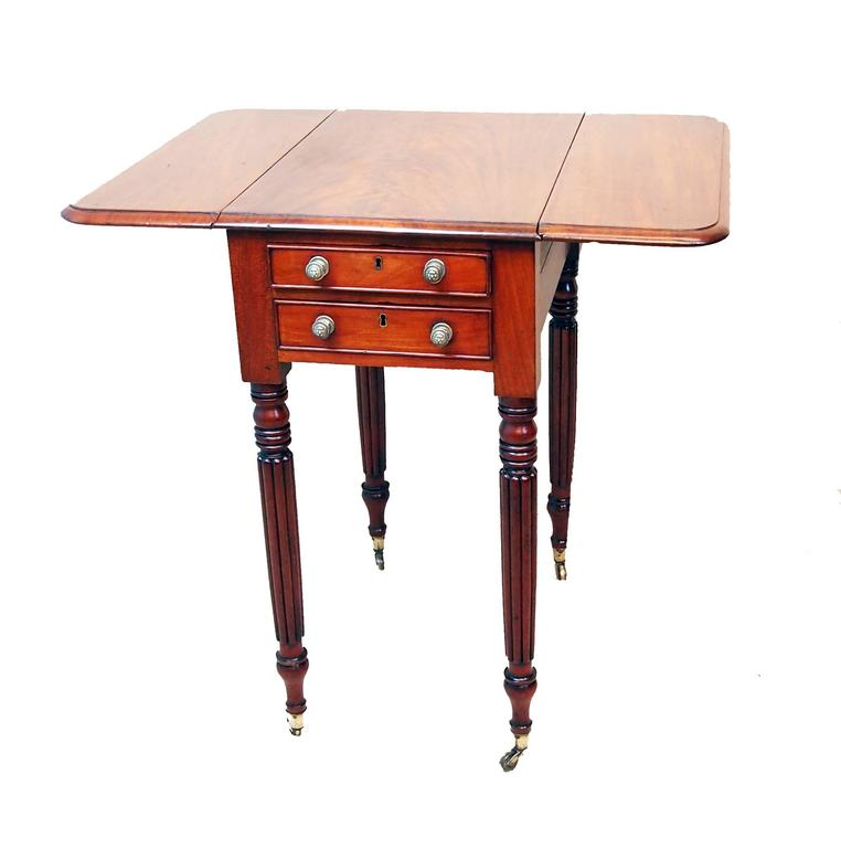 Antique Regency Mahogany Baby Pembroke Table For Sale At