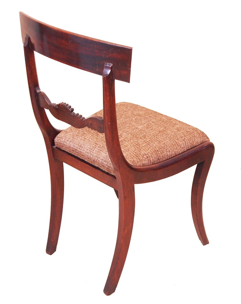 English Antique Regency Mahogany Set of Dining Chairs For Sale