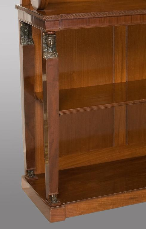 Fine Quality Regency Period Open Bookcase in Solid Mahogany 2