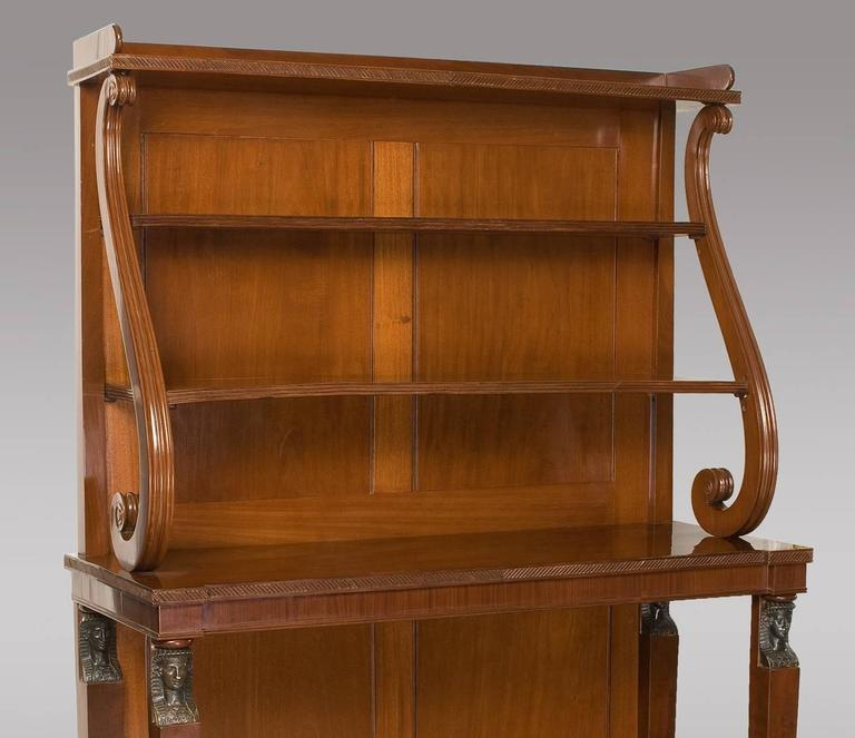 Fine Quality Regency Period Open Bookcase in Solid Mahogany 3