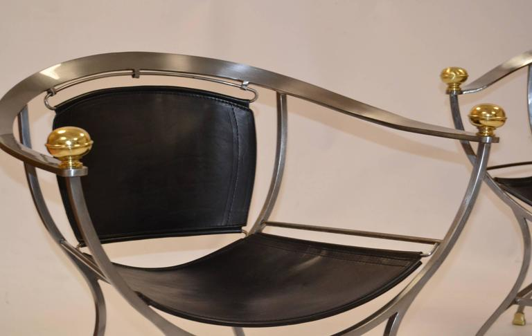 Pair of Armchairs 1970s Italian Designer Alberto Orlandi 3
