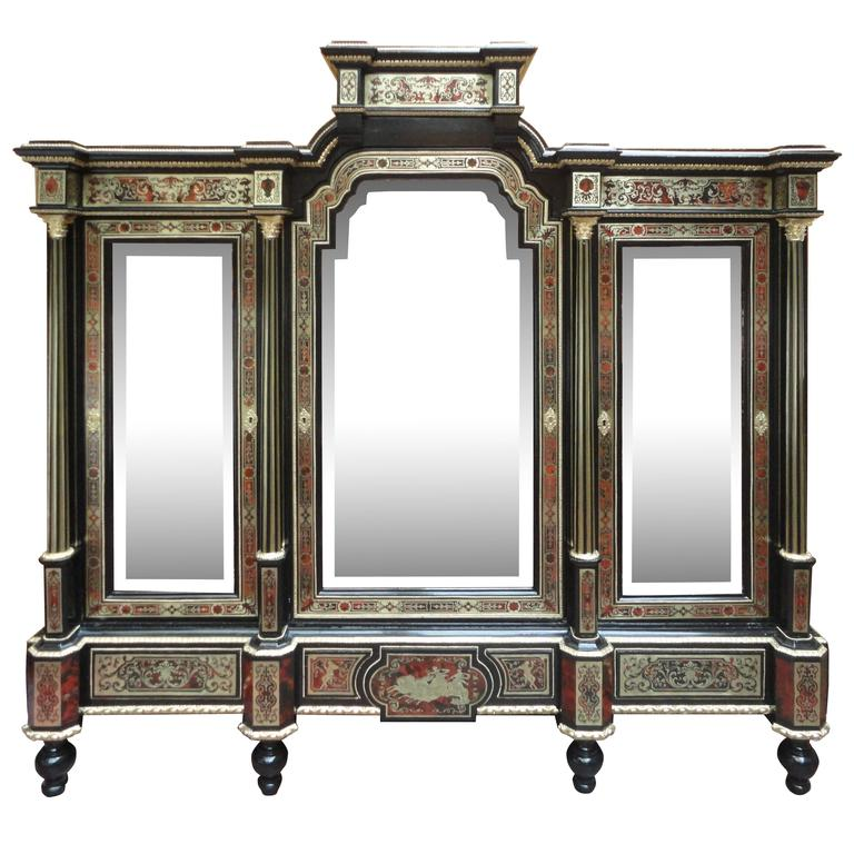 Fine and Unusual Napoleon III Period Boulle Cabinet For Sale
