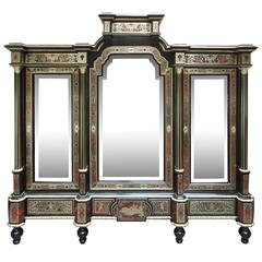 Fine and Unusual Napoleon III Period Boulle Cabinet