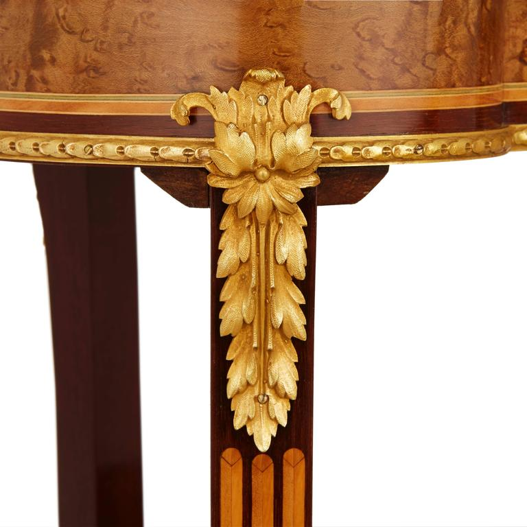 19th Century Louis XV Style Kidney Shaped Ormolu-Mounted Dressing Table by Sormani For Sale