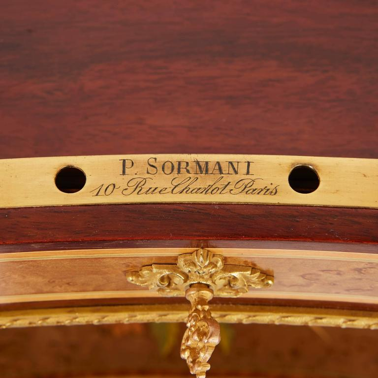 Mirror Louis XV Style Kidney Shaped Ormolu-Mounted Dressing Table by Sormani For Sale
