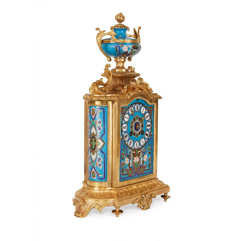 Unusual ormolu and porcelain clock set for sale at 1stdibs Unusual clocks for sale